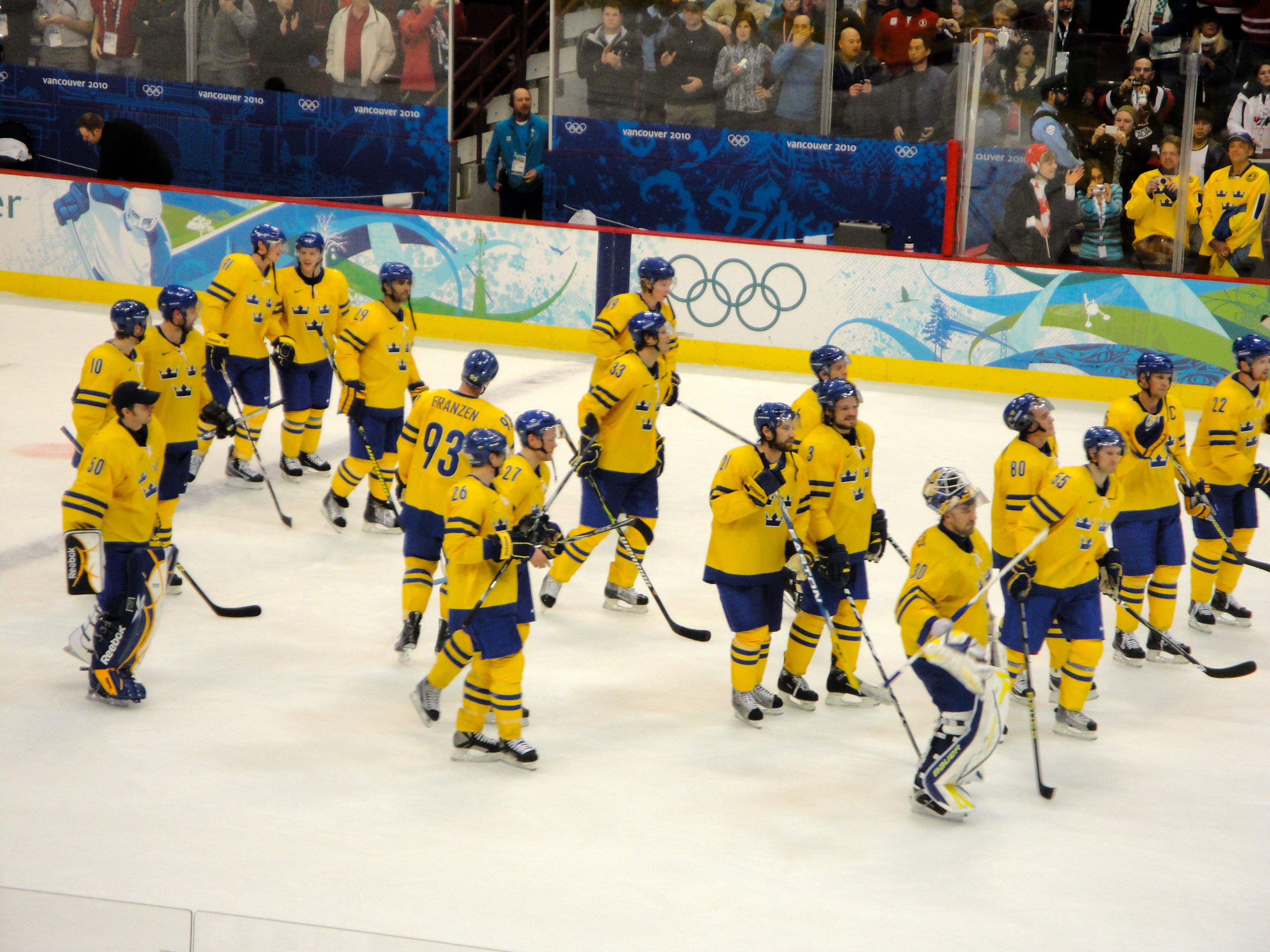 Vancouver Winter Olympics: Swedish hockey team | Mike's Blog
