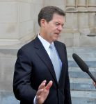 Senator Sam Brownback (R-Kansas) spoke at Manute Bol's funeral.