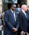 Sudanese ambassador Dr. Akec K.A. Khoc spoke at Manute's funeral.